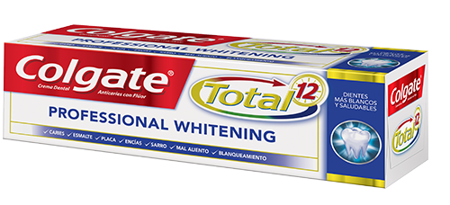 Crema Dental Colgate<sup>&reg;</sup> Total 12 Professional Whitening